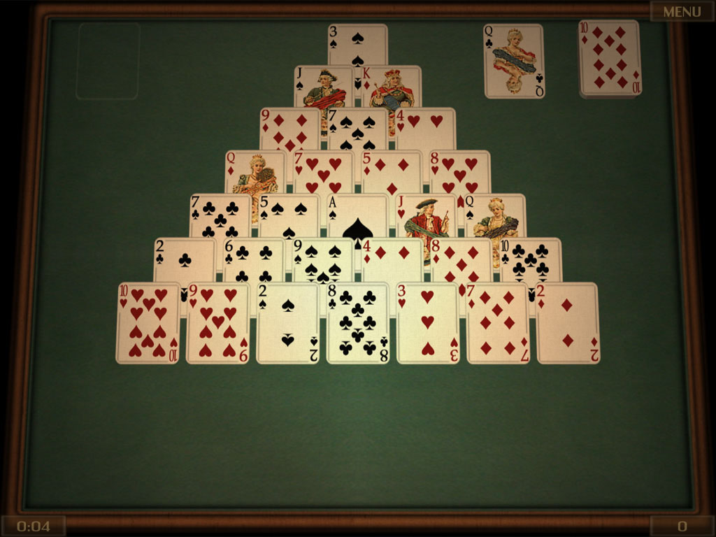 Play four great solitaire games - Pyramid, Gaps, Beleaguered Castle and Twenty - completely free!